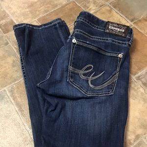 Express Stretch Barely Boot low rise 10R Jeans